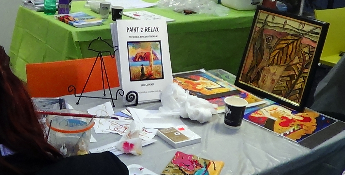 Angela Dicker Teaching Paint to relax At 30th Alzheimers Conference in Perth April 2015