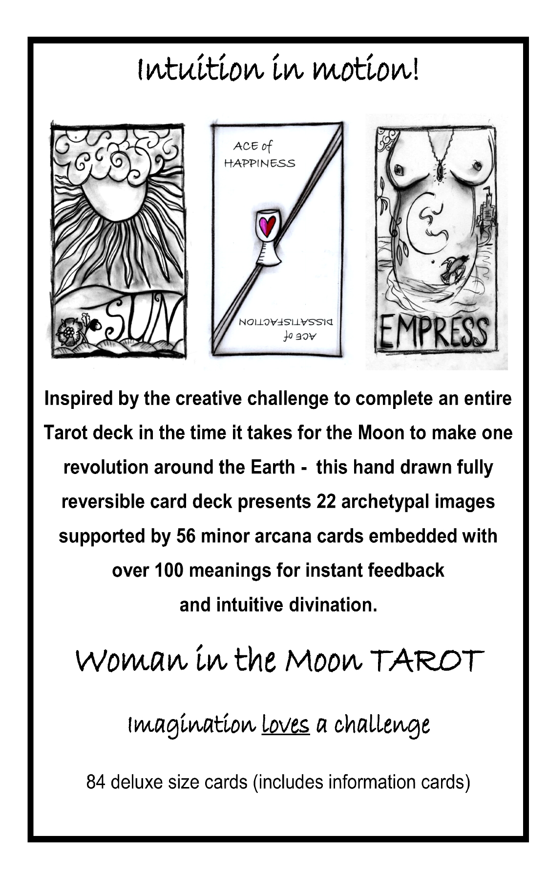 Angela Dicker's Woman in the Moon TAROT