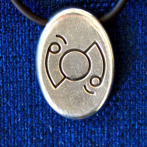 Angela Dicker's Starcode Lead-Free Pewter Auriga Keystone - The Portal Key of Opportunity and New Beginnings