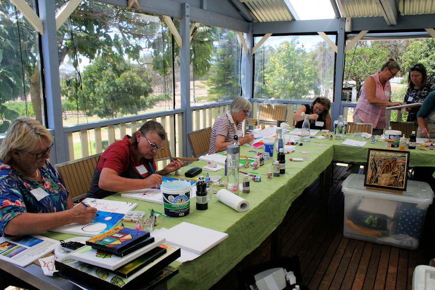Angela Dicker's Spirit of The Vines Paint 2 Relax Workshop Arcadia Wines