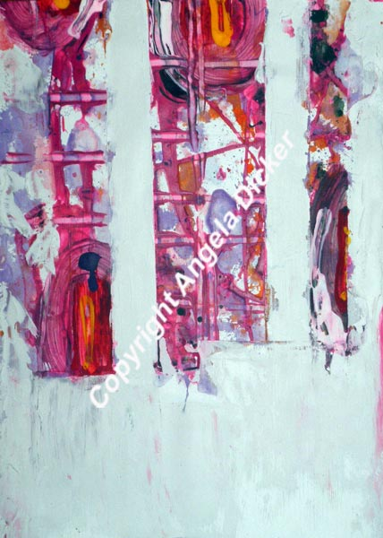Angela Dicker - Original Artwork - Binary101.12 - Acrylic and oil on paper 210 x 300mm