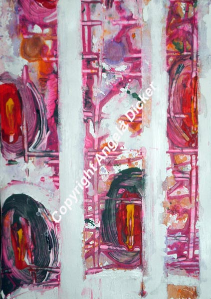 Angela Dicker - Original Artwork - Binary101.11 - Acrylic and oil on paper 210 x300mm