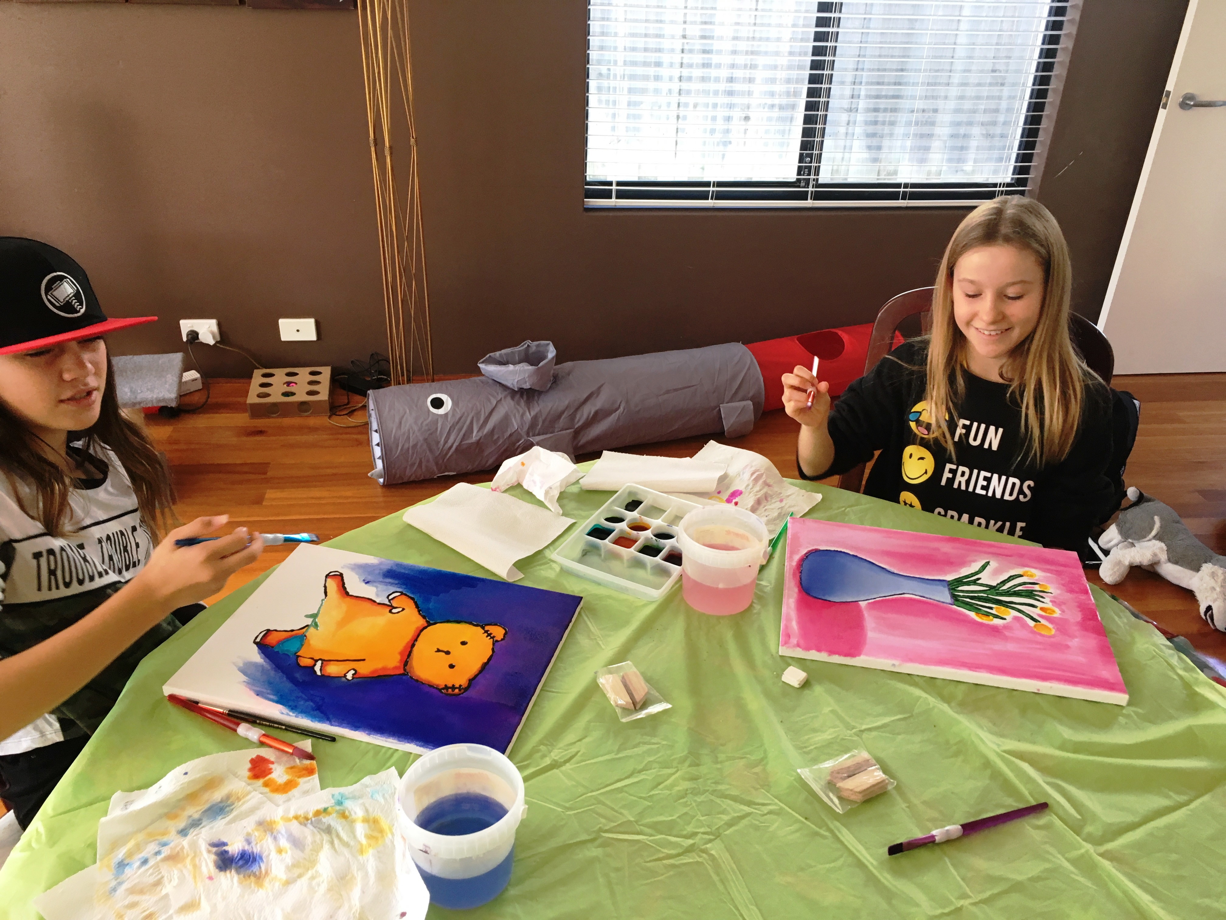Angela Dicker's Paint 2 Relax Art Lesson