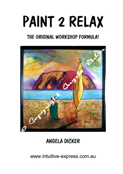 Angela Dicker's own how-to art book that reveals her popular two hour workshop formula in easy steps. Paint 2 Relax. Paint to Relax